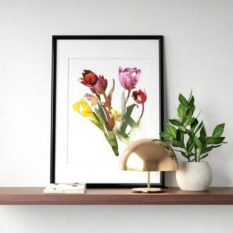 """Постер """"Букет тюльпанів"""""""