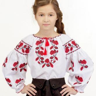 Блуза для дівчинки Мрія (батист білий)