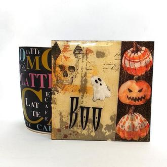 Деревянная подставка под горячее Halloween #1