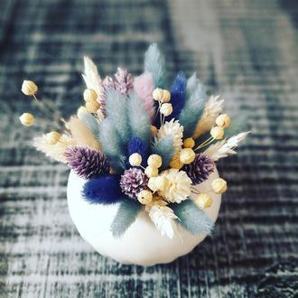 Стильный декор (букет) из сухоцвета