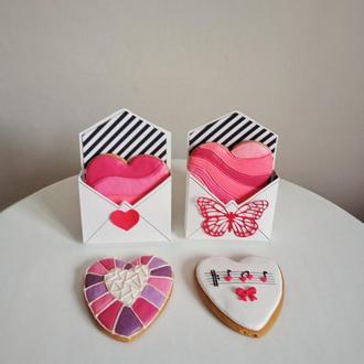 Пряник сердце в подарочной упаковке