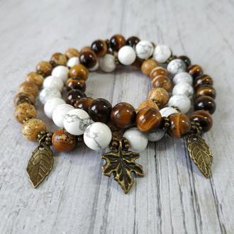 Сет женских браслетов из натуральных камней Ж22-23-24