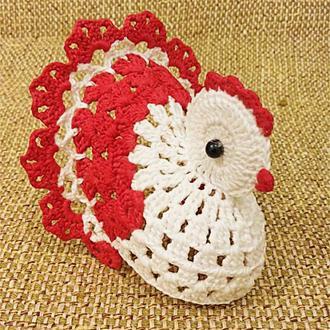 Пасхальная курочка сувенир подарок вязаная