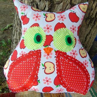 Подушка Сова красная, яблоко