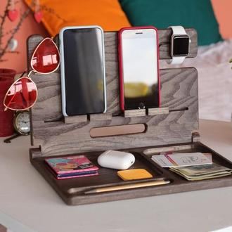 Подставка для телефона, планшета, часов, ключей, очков, подарок на день рождение