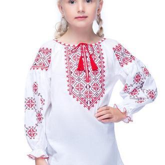 Блуза для дівчинки Дарія (батист білий)