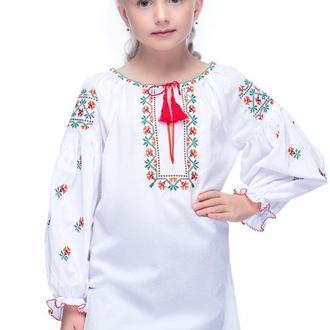 Блуза для дівчинки Веселка (батист білий)