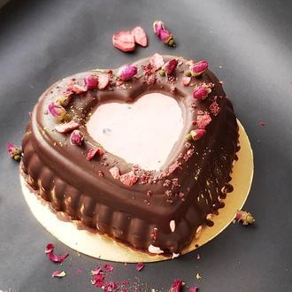 Зефирный торт в форме сердца