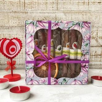 """Подарок на День святого Валентина. Подарочный набор пастилы коробочка """"Магнолия"""""""