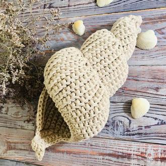 Ракушка корзина, декор для дома