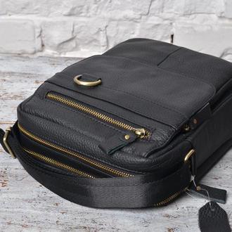 Стильная,удобная сумка-мессенджер из натуральной кожи.