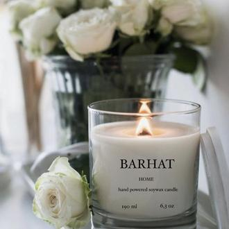 Свеча из Соевого Воска с ароматом Лаванды и Кокоса