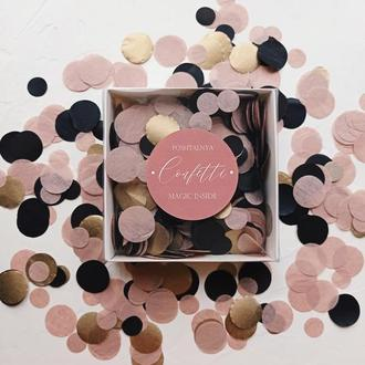 "Конфеті конфетти confetti ""Black Rose Gold"" mix из тишью 20 г"