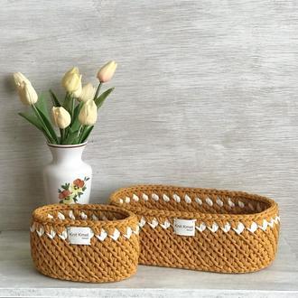 Корзина кашпо органайзер для мелочей для цветов вазонка подарок декор для дома для игрушек