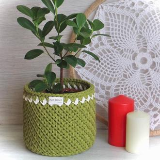 Корзина кашпо органайзер для дрібничок для квітів вазонка подарунок декор для дому для іграшок