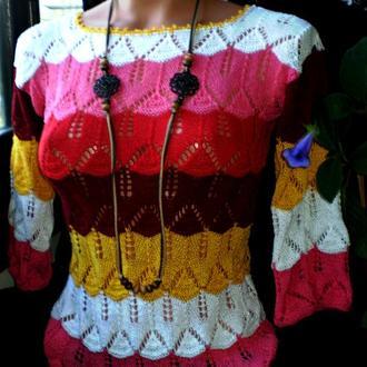 "Летний пуловер ""Bright lollipops"""