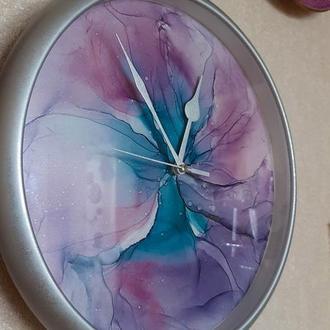 Настенные часы декор с  картиной абстракция