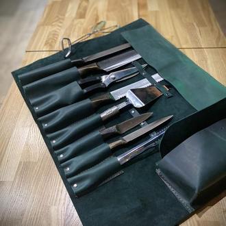 Скрутка для ножей из натуральной кожи.