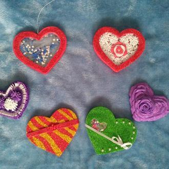 валентинки - седца сувенир подарок