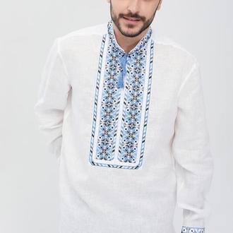 Сорочка вишиванка чоловіча Мирослав (льон білий)