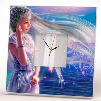 """Стильные часы с фотопечатью """"Девушка в стиле фэнтези"""""""