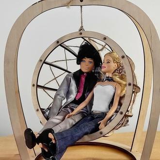 Гойдалка для ляльок / качеля Кокон для Барбі своїми руками