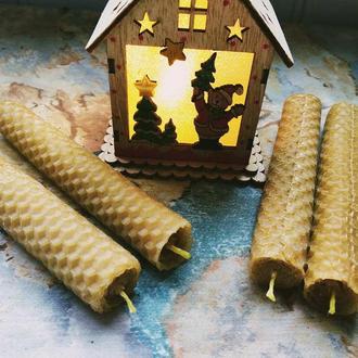 Свечи из вощины,  эко свечи, восковые свечи, тонкие свечи из воска и меда