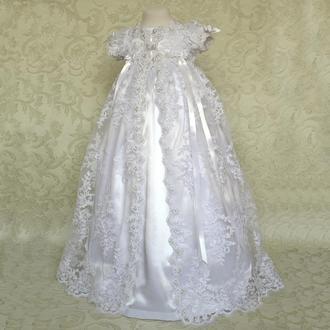 Крестильное платье для крещения девочки Анна