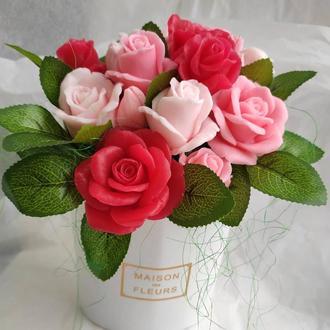 Букет роз из мыла, мыльные розы