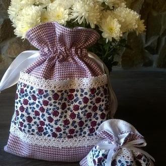 Торбинки, мішечки для подарунка.
