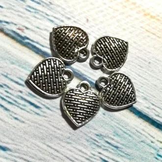 Подвеска Сердце, Подвески для украшений Сердце, размер 1,1*1,1мм, 1 уп - 5 шт \ Sf - 0-16299