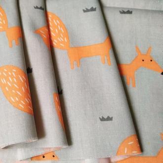 Ткань хлопок для рукоделия лисички