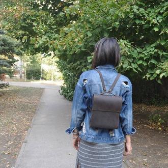 Рюкзак-портфель из натуральной кожи