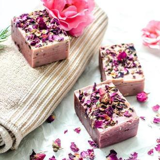 Натуральное Мыло  Роскошная Роза  для сухой кожи (карпатская роза)