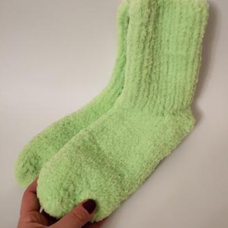 Носки вязанные спицами.