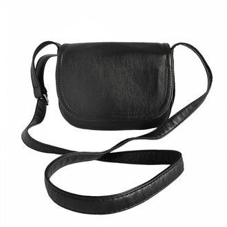Женская маленькая сумка через плечо Черная