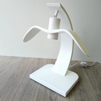Дизайнерская настольная лампа Ночная Птица Белая (White Night Bird). Светильник ручной работы.
