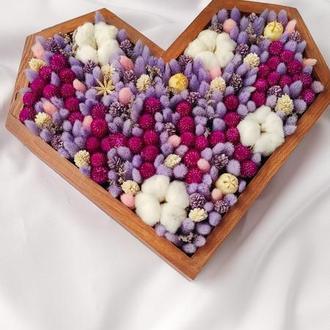 Сердце с цветами / Цветы в коробке