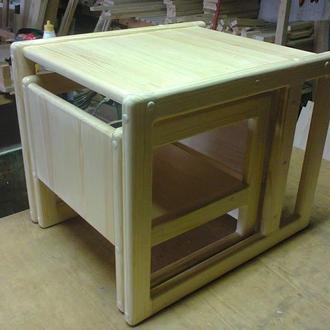 Набір дитячих меблів столик і стільчик для маленької дитинки