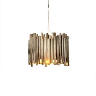 Дизайнерский подвесной светильник. Металлическая потолочная люстра. Современное освещение. Предмет р
