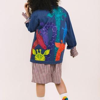Джинсовая куртка с  росписью