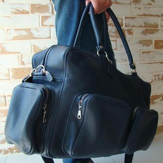 Шикарная кожаная дорожная/спортивная сумка/ выбор цветов