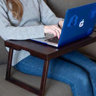 Столик для ноутбука 13-15 дюймів. Підставка для ноута. Піднос на ніжках.