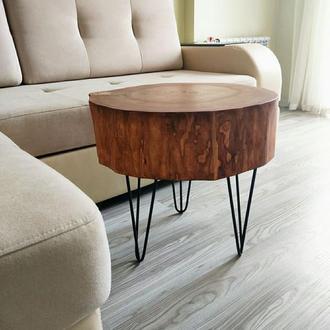 Журнальный столик из среза тополя