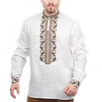 Рубашка мужская Дуб (лен белый)