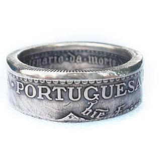 Кольцо из монеты 5 Эскудо Португалия Серебро