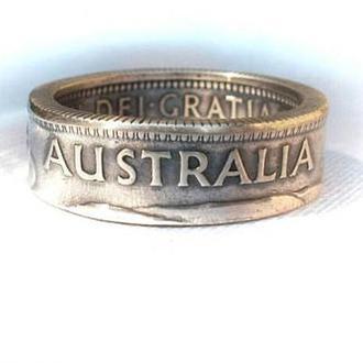 Кольцо из монеты 1 шиллинг Австралия