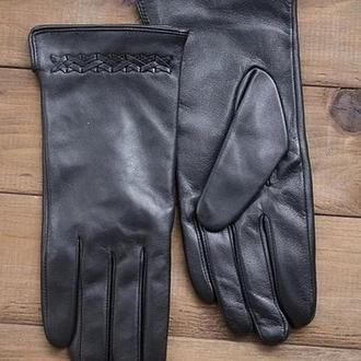 Женские перчатки кожаные