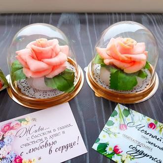 Роза в куполе (мыло)