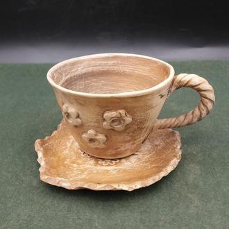 Кофейная чашка с блюдцем.